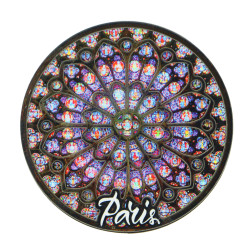 3D Wooden Rose Window Magnet