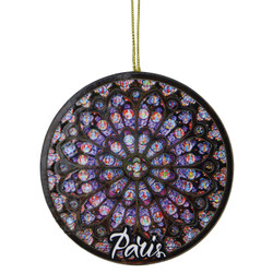 Wooden Rose Window Ornament