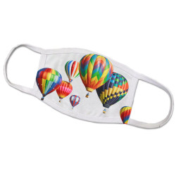 Hot Air Balloons Face Mask