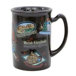 Large West Virginia Mug Raised Design 14 oz