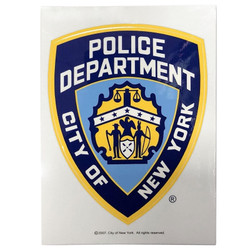 NYPD Sticker Decal Removeable Shield
