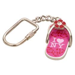 I Love NY Pink Sandal Key Chain