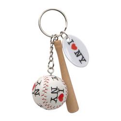 I Love NY Key Chain with Baseball and Bat