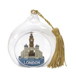 London Christmas Ornament Glass Ball