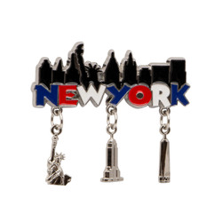 New York City Magnet with Charms