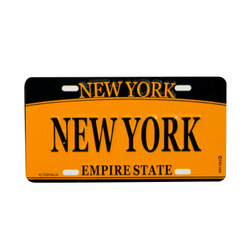 New York License Plate Magnet