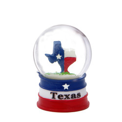 Texas Snow Globe with State Flag