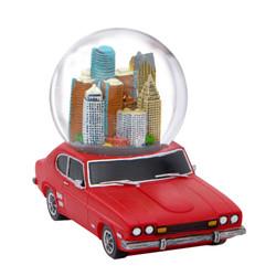 Detroit Snow Globe Car