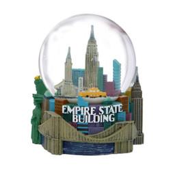 NYC Snow Globe Empire Skyline