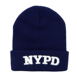 NYPD Beanie Navy Blue Knit Hat