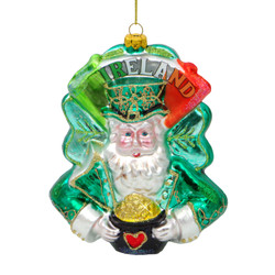 Ireland Christmas Ornament Santa