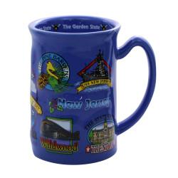 New Jersey Mug Ceramic Landmarks 14oz
