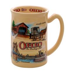 Ohio Mug Ceramic Landmarks 14oz