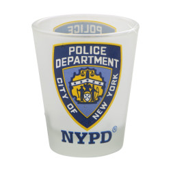 Frosted NYPD Shot Glass Police Department of New York City