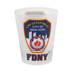 FDNY Shot Glass Frosted Fire Department of New York City