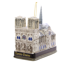 Glass Notre Dame Christmas Ornament