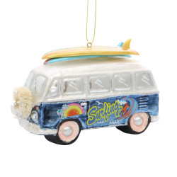 Surfing Christmas Ornament