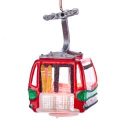 Ski Lift Christmas Ornament Glass Gondola