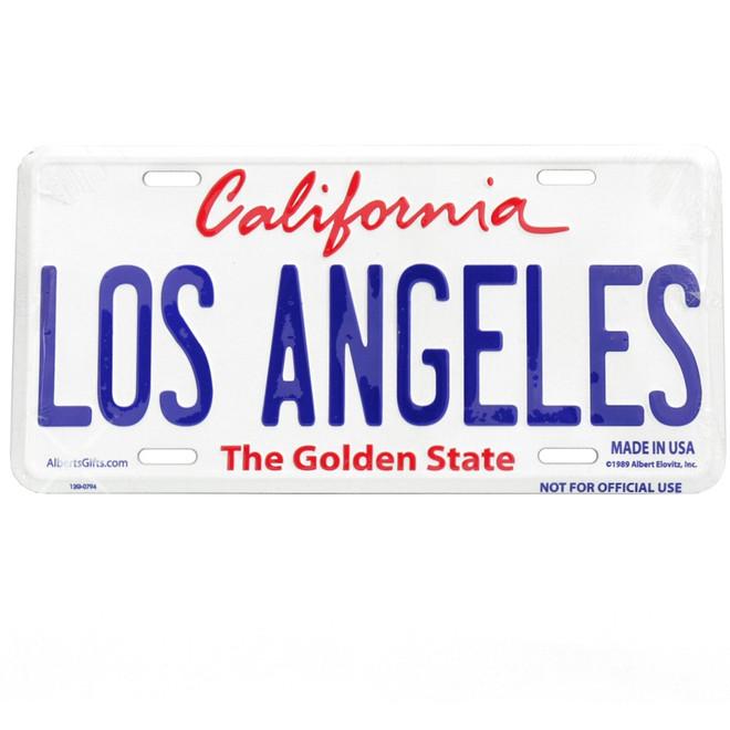 Embossed Los Angeles License Plate