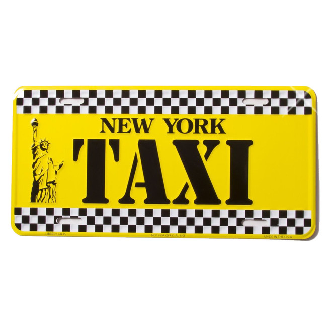 New York Taxi License Plate, vanity plate
