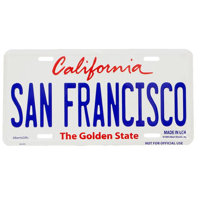 San Francisco License Plate