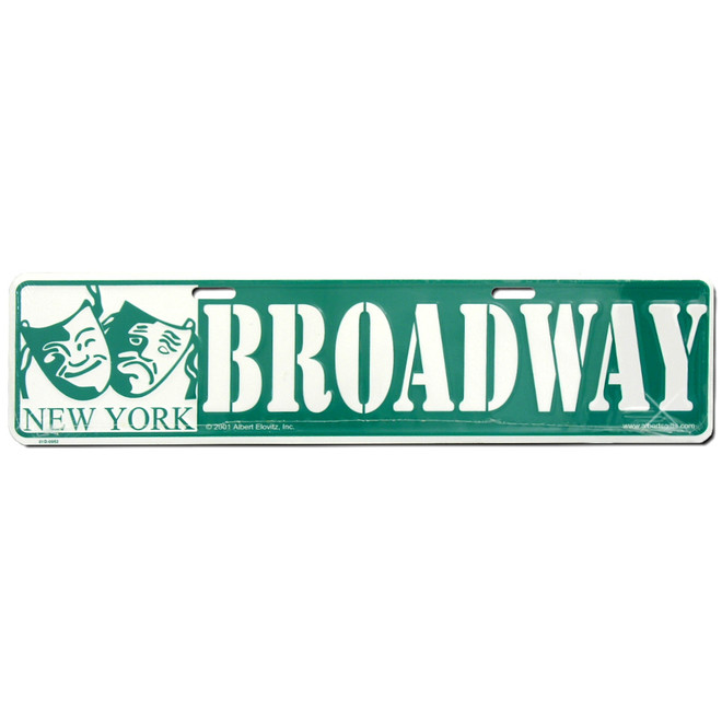 New York City Broadway Street Sign