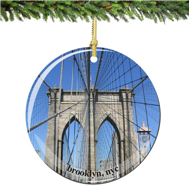 Porcelain Brooklyn Bridge Christmas Ornament