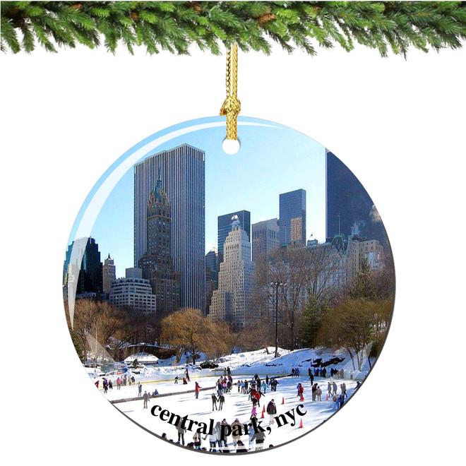 Porcelain New York City Central Park Christmas Ornament