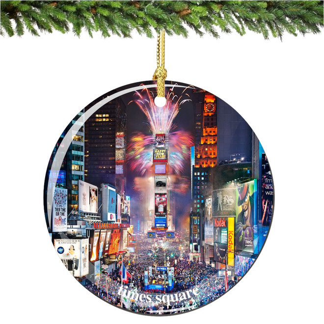Porcelain New York City Times Square Christmas Ornament