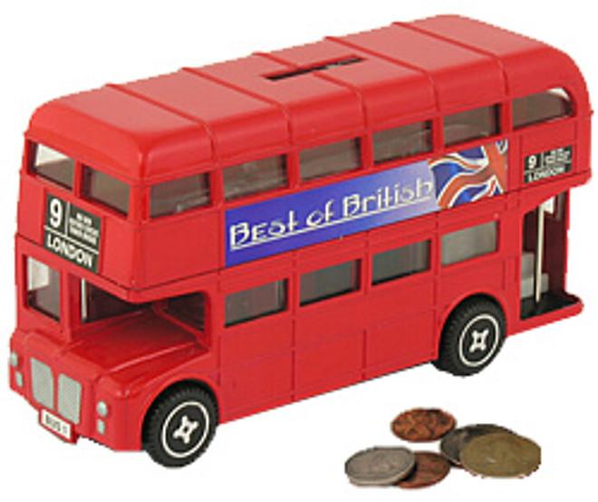 London Double Decker Bus Bank