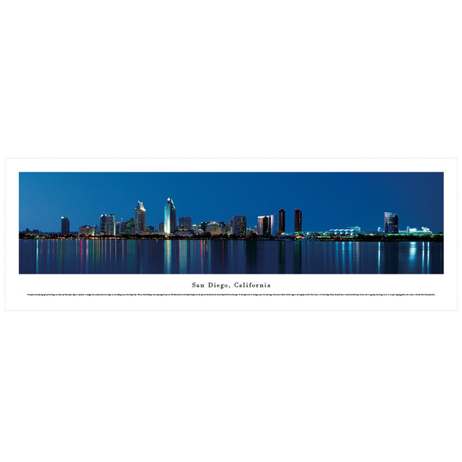 Panoramic San Diego Skyline Poster