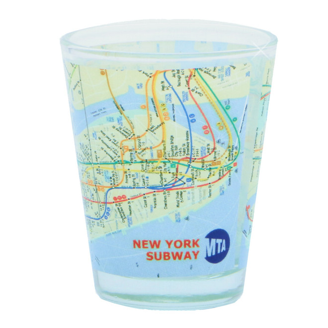 NYC MTA Map Subway Shot Glass