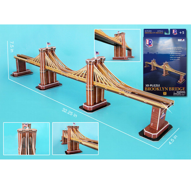 3D Brooklyn Bridge Puzzles