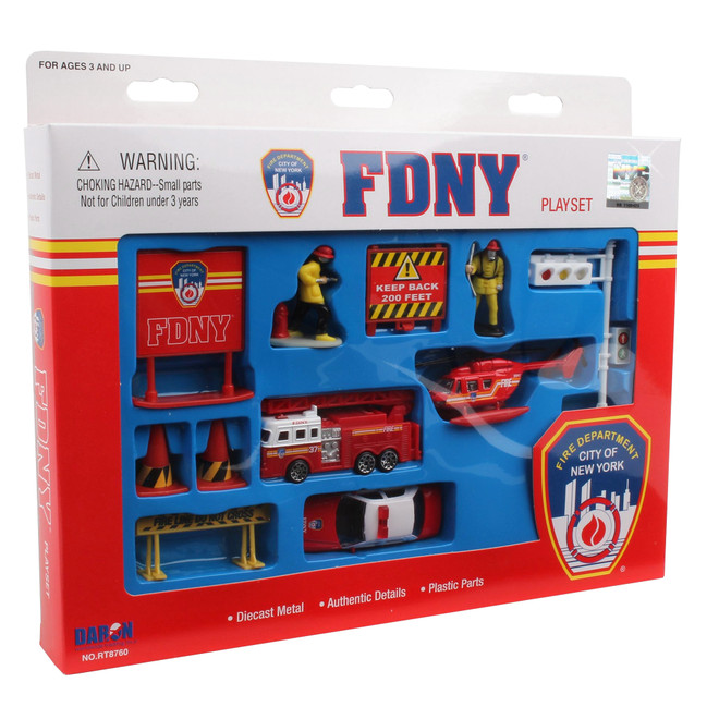 FDNY Toy Set for Kids 3+ yo