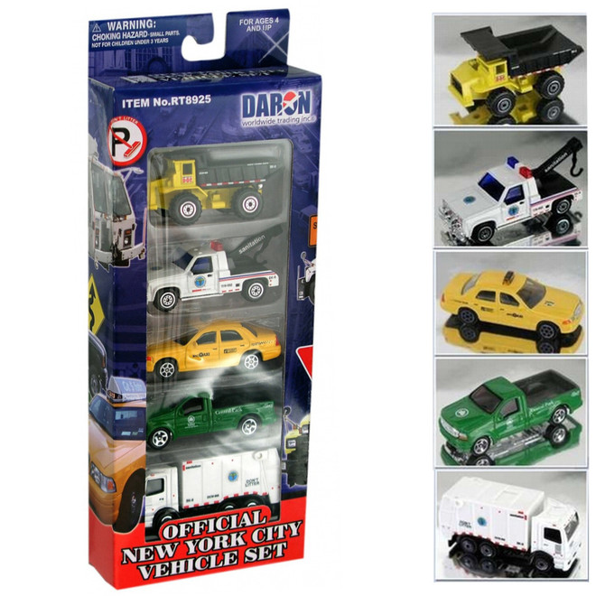 Official New York City Car and Truck Set