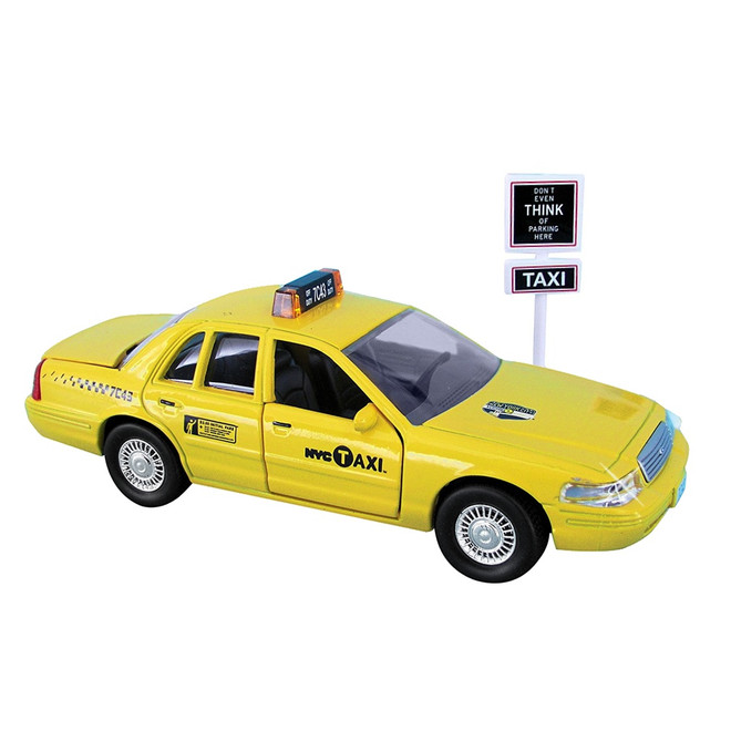 Official Taxi Cab and Sign Set
