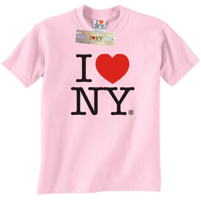 I Love NY T-Shirt in Light Pink with the classic I Heat NY Logo.