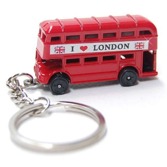 London Double Decker Bus Key Chain, London's Bus Key Ring