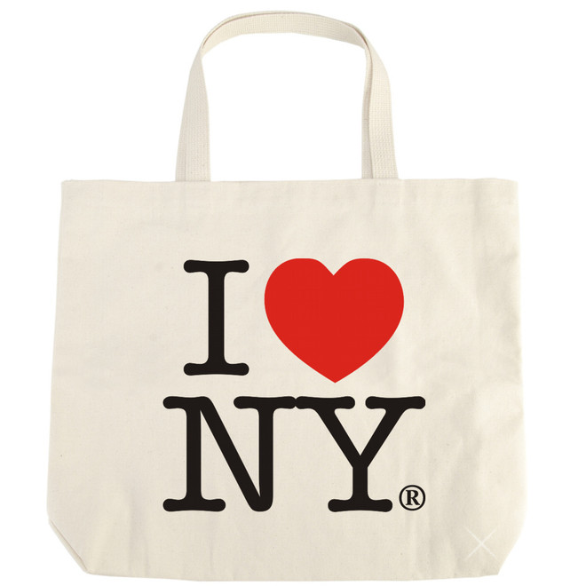 White Natural I Love NY tote bag from NYC