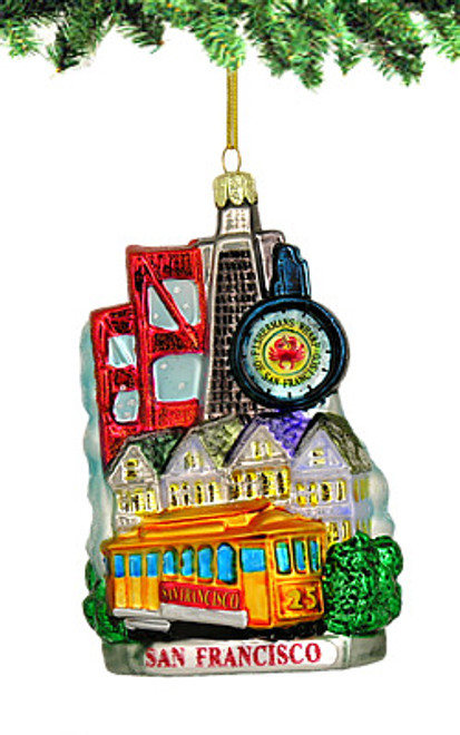 San Francisco Bay Glass Ornament