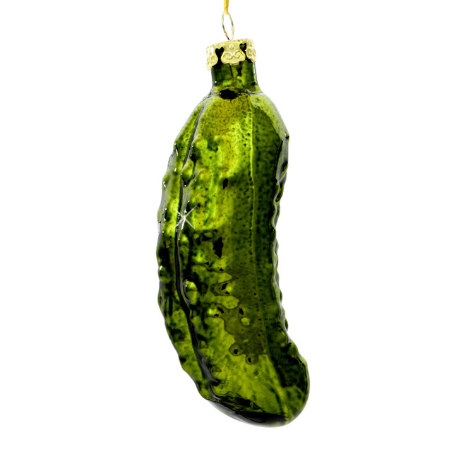 Pickle Christmas Ornament.Pickle Glass Ornament