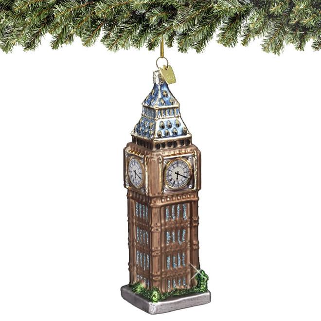 Glass London Big Ben Christmas Ornament