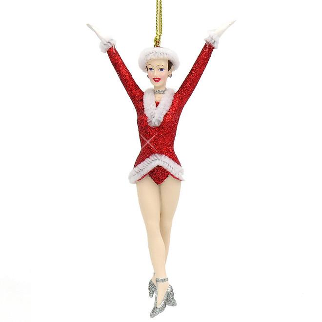 NYC Glass Rockette Christmas Ornament