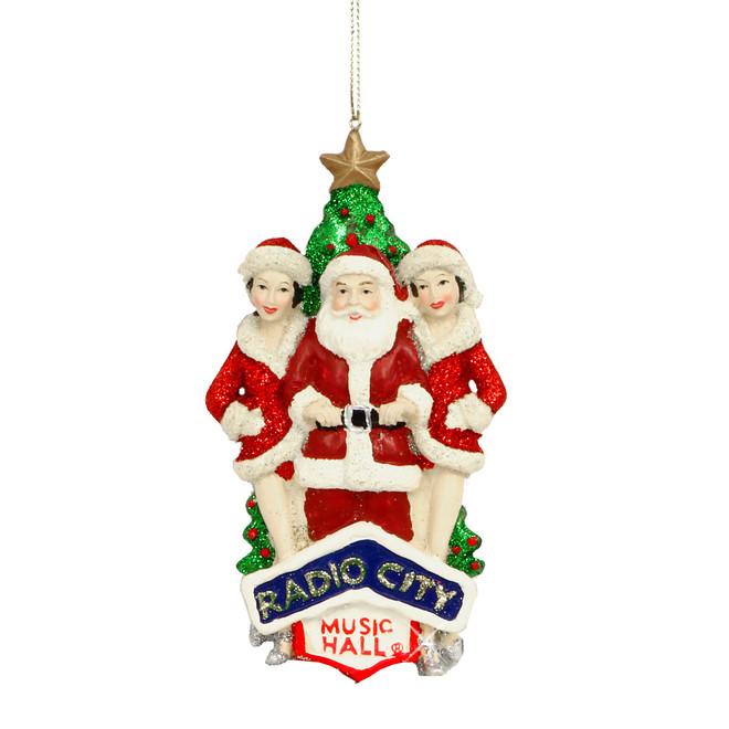 - Radio City Rockettes And Santa Ornament