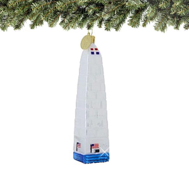 Glass DC Washington Monument Christmas Ornament