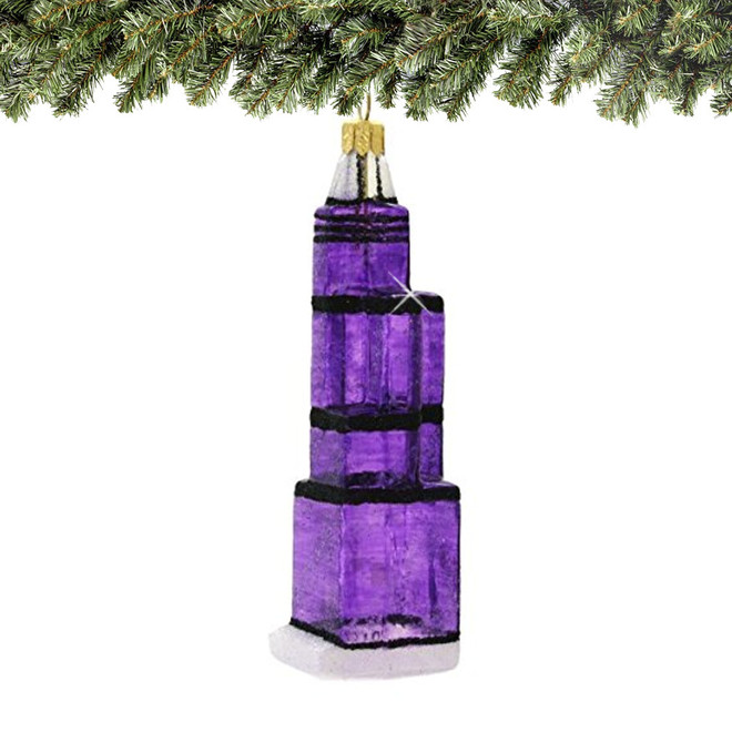Glass Chicago Sears Tower Christmas Ornament (Willis Tower)