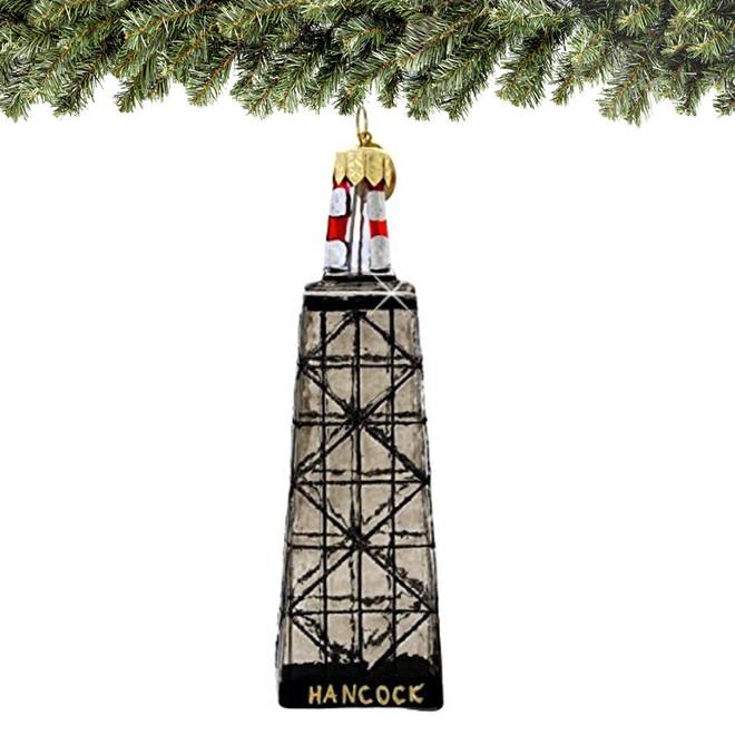 Chicago John Hancock Building Christmas Ornament