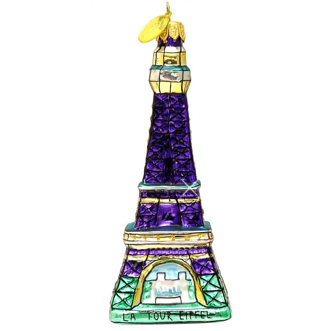 Glass Paris Eiffel Tower Chrstmas Ornament