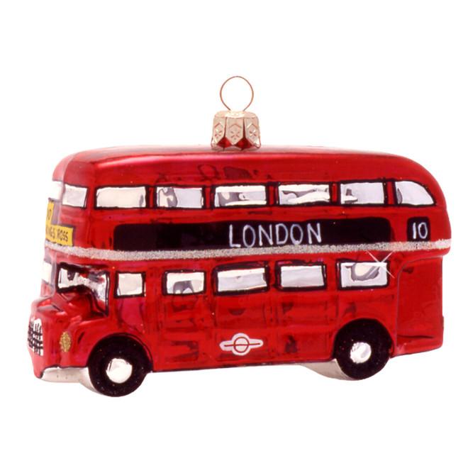 Double Decker Bus London Ornament Glass