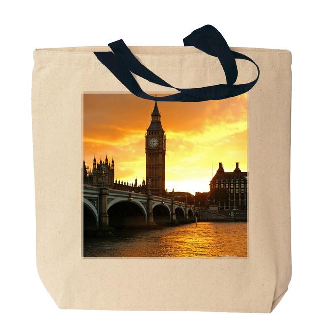 London's Big Ben Canvas Tote Bag